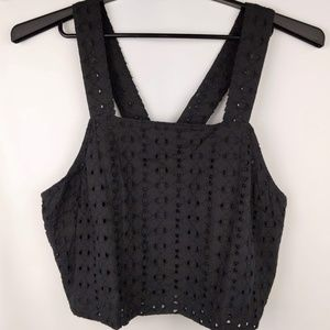 Mossimo XL Cut Out Lined Crop Top